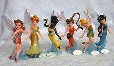 Disney Princess Peter Pan Tinkerbell Figures Toy With Black Fairy Set of 6 AU
