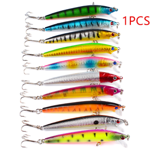 Lot 1pcs Kinds of Fishing Lures Crankbaits Hooks Minnow Baits Tackle Accessories