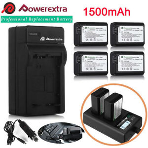 NP-FW50-Battery-for-Sony-Alpha-A6500-A6000-A6300-A7r-A7-amp-LCD-Dual-USB-Charger