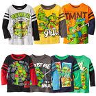 TMNT Kinder Baby Jungen Aufdruck langärmliges Oberteil T-shirt 2 jahre~7Y