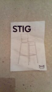 Stupendous Details About Ikea Stig Bar Stool With Backrest Black Silver Colour Unused Gmtry Best Dining Table And Chair Ideas Images Gmtryco