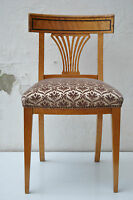 sehr schöner antiker Biedermeier-Polster-Stuhl Kirsche hell aufgepolstert
