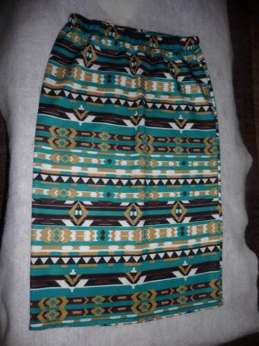 Below Knee White Brown Skirt Aztec Teal Tag Length Tan Without New Misha Pencil AwqBxCR