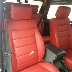 Image Is Loading KATZKIN REPLACEMENT RED LEATHER SEAT COVERS 2008 2009