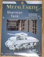 Sherman Tank Metal Earth 3 D Laser Cut Metal Model Fascinations Military