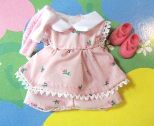 Kelly Chelsea Doll Clothes *ADORABLE Pink Rosebud Dress Shorts Headband /& Shoes*