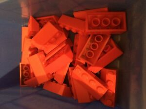 LEGO RED Bricks 4x2 Slope Roof Pieces Parts Lot FAST FREE UK POSTAGE