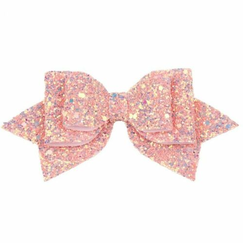 1pc Sequin Hairpins Girls Boutique Bow-knot Glitter Barrettes Baby Hair Clip New