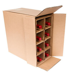 8 Bottle Wine Shipping Box Boxes Are Ups Fedex Approved Ebay