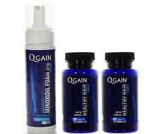2 X QGAIN Healthy Hair + 1 X Qgain Foam Minoxidil 5% 3 Month Supply 180ml - 6oz