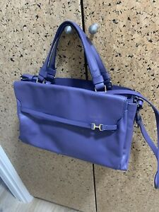NWOT-Halston-Heritage-Violet-Italian-Leather-Handbag-Crossbody
