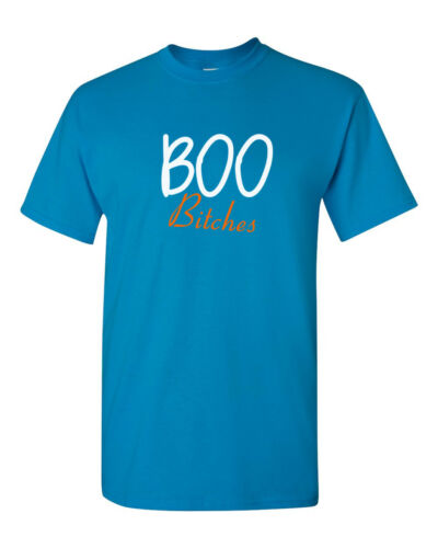 BOO Bitches T-Shirt Halloween Party Scary Costume Funny Tee Shirt Short Sleeve