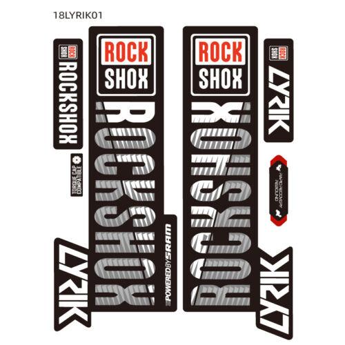 2018 LYRIK ROCK Shox Fork Sticker for MTB RockShox Mountain Bike Cycling Decals