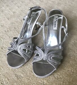 1259ce3d1e Image is loading Womens-Shoes-Nina-Bobbie-Silver-Jolie-Sandal-Size-