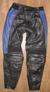 034-POLO-034-Damen-Motorrad-KOMBIHOSE-Biker-Lederhose-in-schwarz-blau-Gr-40