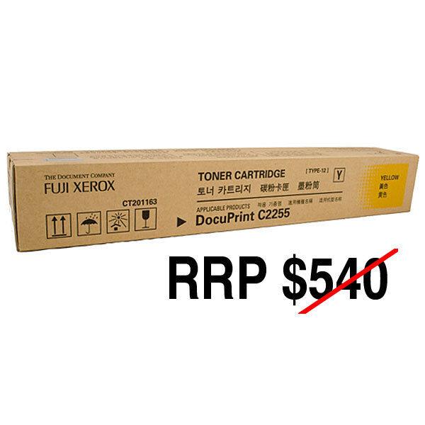 FUJI XEROX Genuine Brand New DocuPrint C2255 Yellow Toner Cartridge CT201163