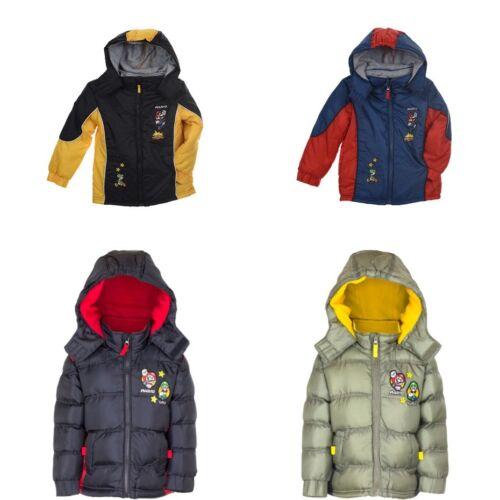 Super Mario winter coat fleece lined puffer jacket new licensed 3-8 years