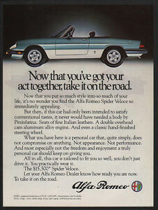 Image Is Loading 1983 ALFA ROMEO SPIDER VELOCE Convertible Sports Car