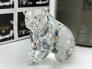 Swarovski-Figurine-243880-Ours-Grizzly-Assis-9-cm-avec-Ovp-amp-Zertifikat-Top