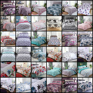 Duvet-Cover-Bedding-Set-Single-Double-King-Super-Size-Pink-Blue-Black-White-Grey