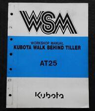 Original Kubota At25 At 25 Rotary Tiller Service Repair Manual Very Nice