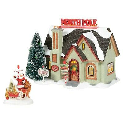 Christmas Lane 2020 Dept 56 Snow Village Christmas Lane THE NORTH POLE HOUSE SET OF 2