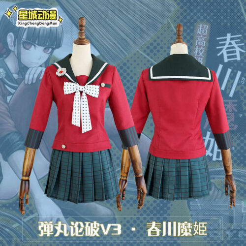 Danganronpa V3 Harukawa Maki Killing Harmony Uniform Cosplay Costume Whole Set