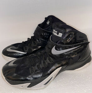 Nike-Men-s-LeBron-Zoom-Soldier-8-Basketball-Shoes-Black-White-Size-14