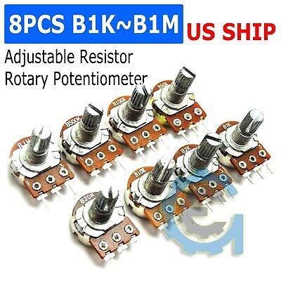 10x 100K Ohm Linear Taper Rotary Potentiometer Panel Pot B100K 15mm 3Pin WH`fr