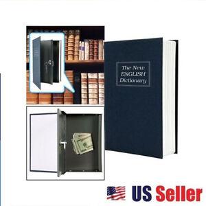 large dictionary hidden book safe combo lock secret inner security cash box oh. Black Bedroom Furniture Sets. Home Design Ideas
