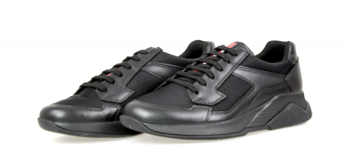 LUXUS PRADA SNEAKER SCHUHE 4E2816 black NEU NEW 6 40 40,5