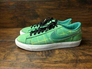Brand New Nike Blazer Low Green Noise Men's Size 8.5 Black ...