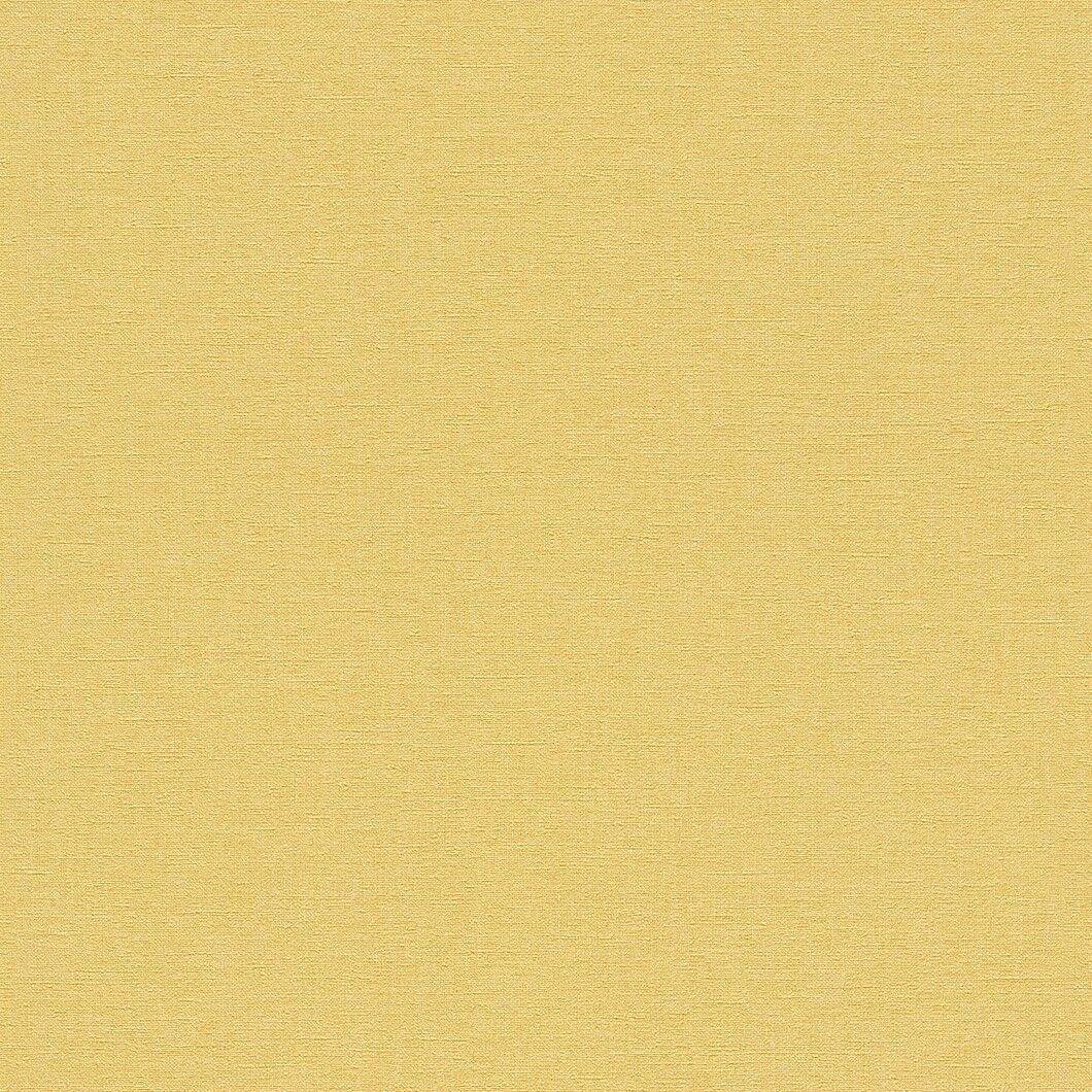 448580 Rasch Florentine Uni Senf Gelb Texturiert Stoff Effekt Tapete
