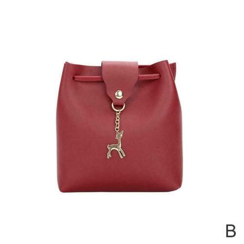 Women PU Leather Girls Backpack Travel Handbag Shoulder Purse Lady Bag Coin M1P3