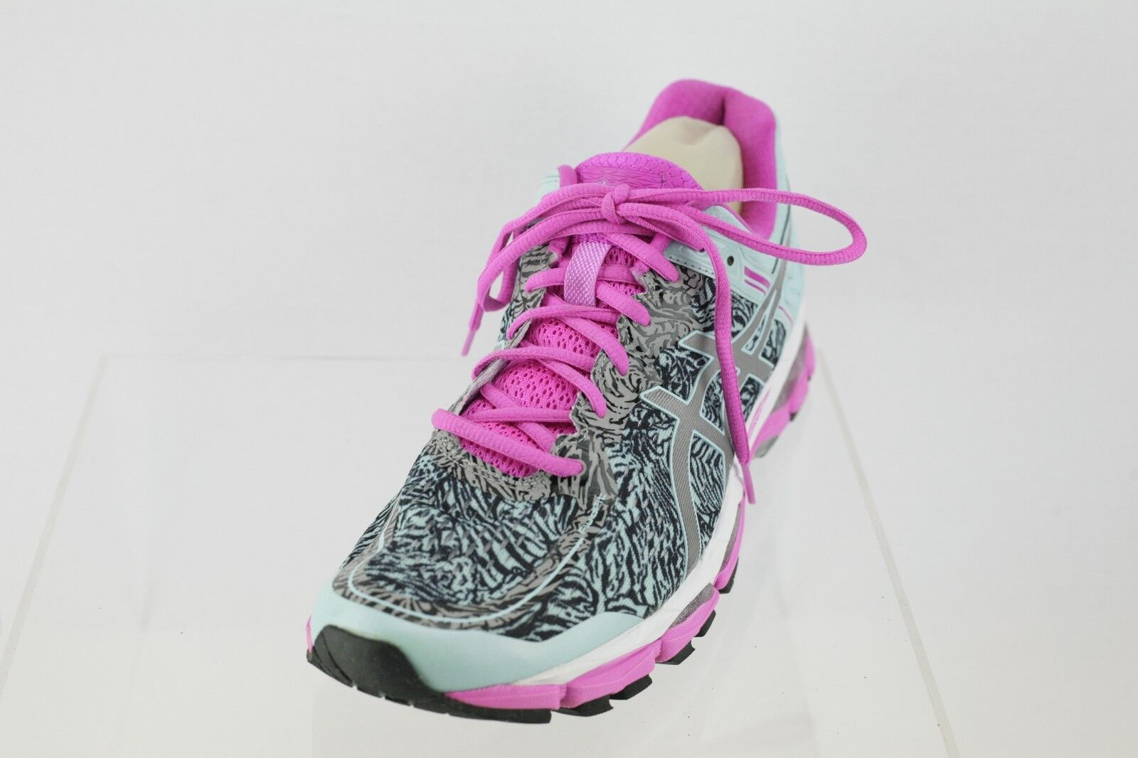 Women's Asics T5A6N Turquoise Pink Lace-up Running shoes Size 11.5 M