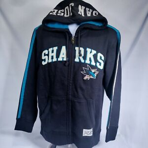 San Jose Sharks Old Time Hockey 3D Embroidered Full Zip Hoodie Mens L $110 NWT