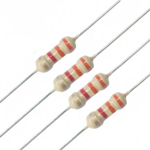 Full Range of Values 1000PC 1//4W 0.25W Carbon Film Resistor 1.2Ω-10MΩ