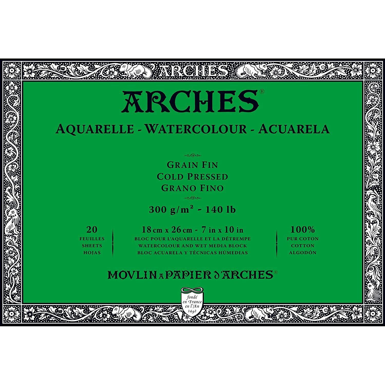 W/&N CANVAS//WC PAPER 6663270 PROFESSIONAL WATERCOLOR BLOCK 140LB ROUGH 7X10