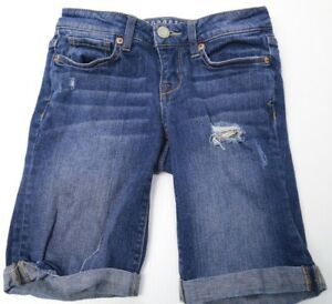 c761afd152 Women's AEROPOSTALE Denim Bermuda Jean Shorts Distressed Cuffed Blue ...