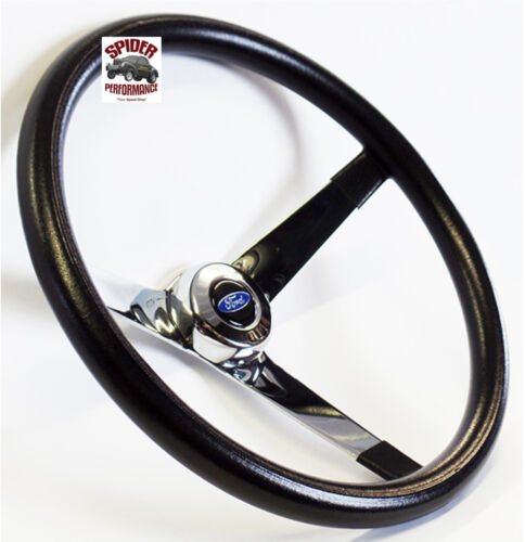 "1967-1974 Bronco steering wheel BLUE OVAL 13 1//2/"" VINTAGE CHROME steering wheel"