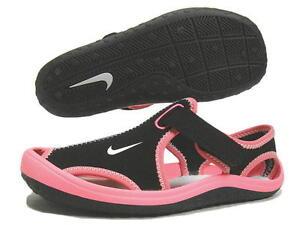de1da81e8 New Nike Preschool Sunray Protect Sandals (PS) (344992-001) Black ...