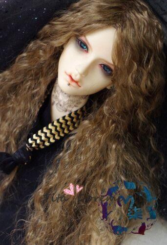 Bjd Doll Wig 1//3 8-9 Dal Pullip AOD DZ AE SD DOD LUTS Dollfie brown Toy Hair