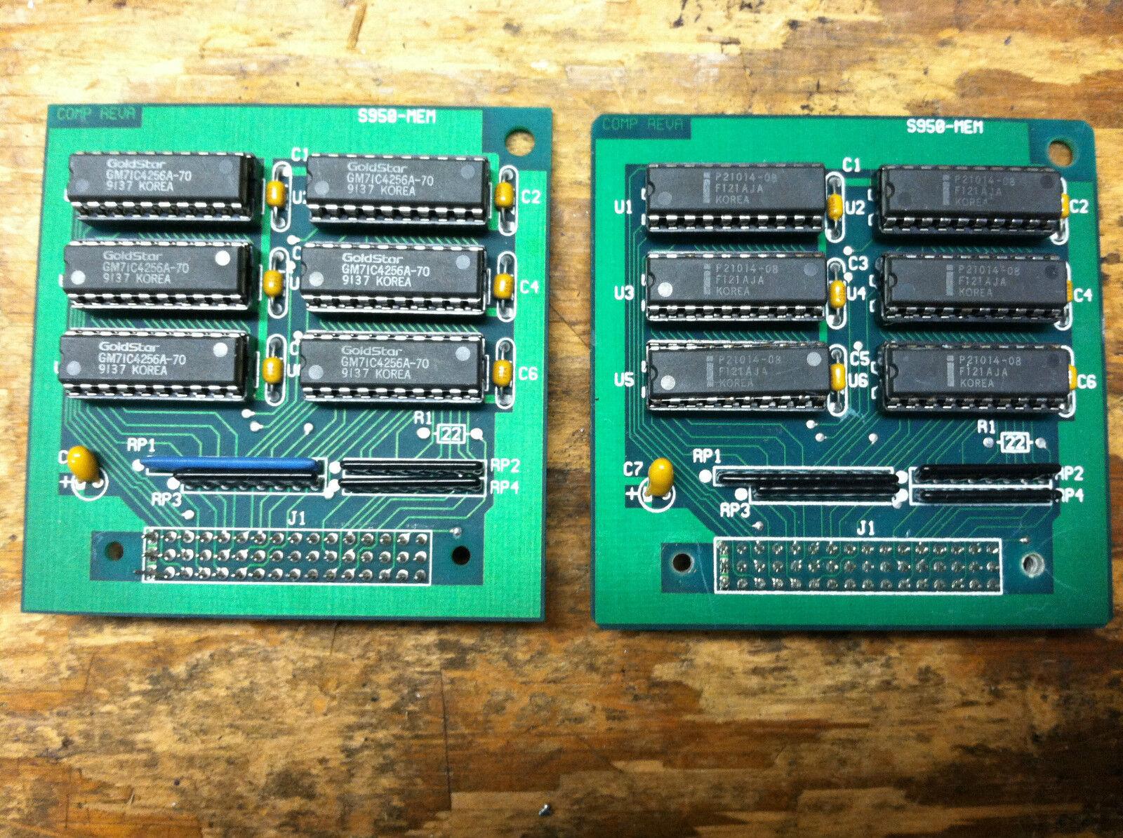 2 Speichererweiterungskarten für AKAI S-950 Sampler  Vintage Board max memory ARMENS