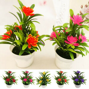Outdoor Flower Fake Plants Flowers Artificial With Pot For Home Garden Decor