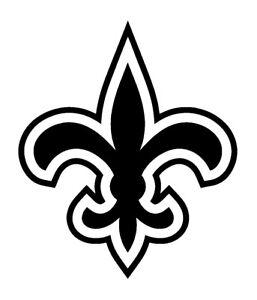 Orleans Saints NFL Black Gold Car Bumper Sticker Decal 4 X 5