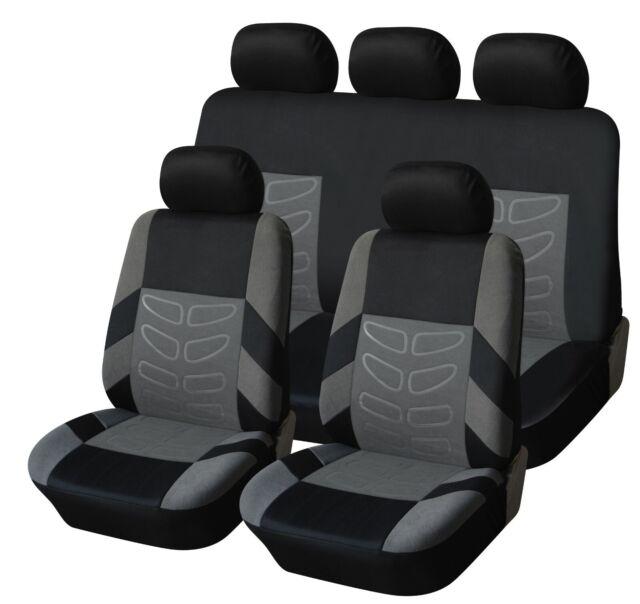Komplettsatz Schonbezüge Sitzbezüge Grau Schwarz Hochwertig Komfort für Skoda VW