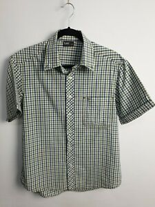 Lee-Men-039-s-Short-Sleeve-Summer-Casual-Check-Shirt-Size-L