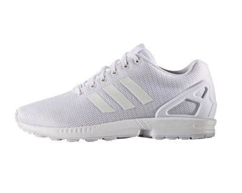 adidas Originals ZX Flux Triple White Men Running Shoes SNEAKERS Trainers S32277  UK 11