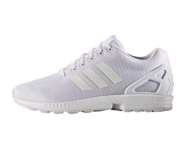 c30060b42b8b4 adidas Originals ZX Flux Triple White Men Running Shoes SNEAKERS ...