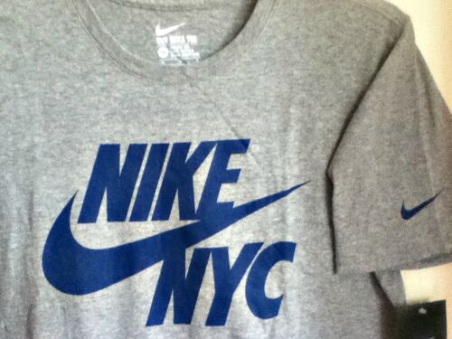 blu Grigio Cotton T Originale Shirt 100 063 Nike Nyc 914290 fxXFIwF